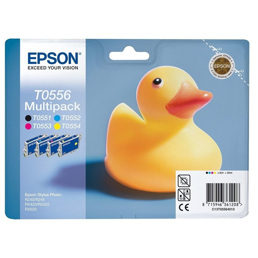 Genuine Ink Cartridge Epson T0056 C13T05564010 4-PACK