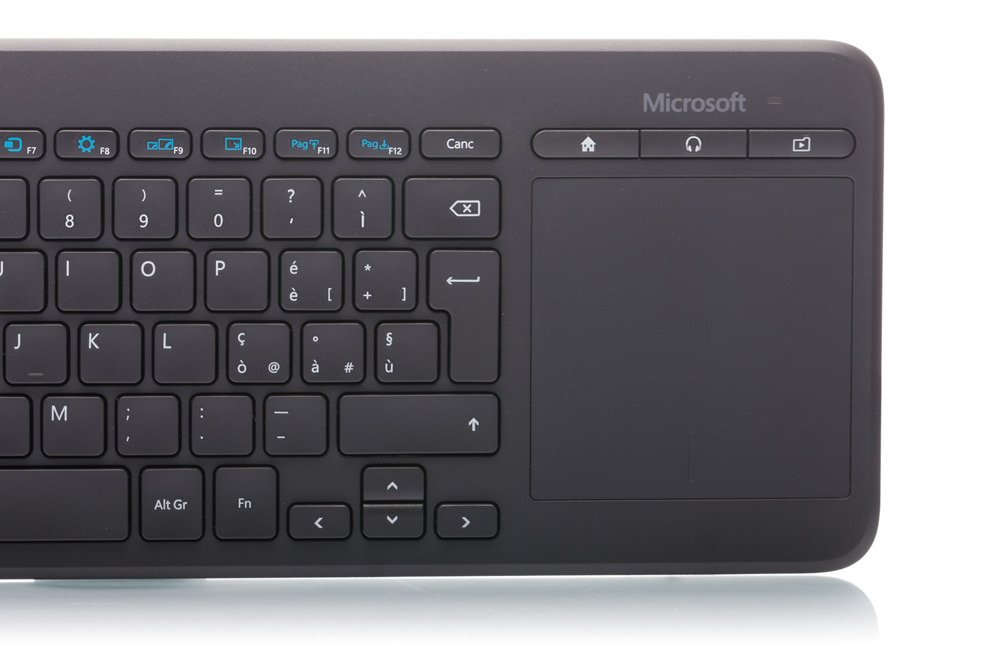 Microsoft All-in-One Media Keyboard (Italian) N9Z-00013 Trackpad