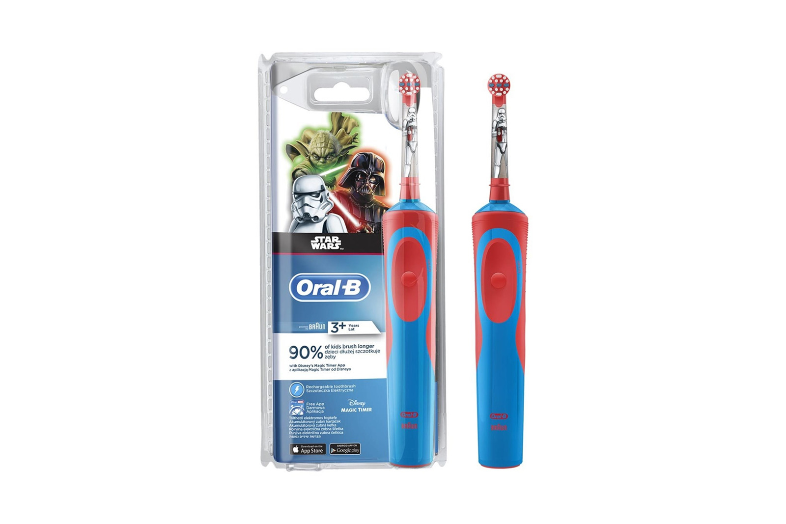 Oral-B Stages Power Electric Toothbrush Rechargeable Kids Star Wars