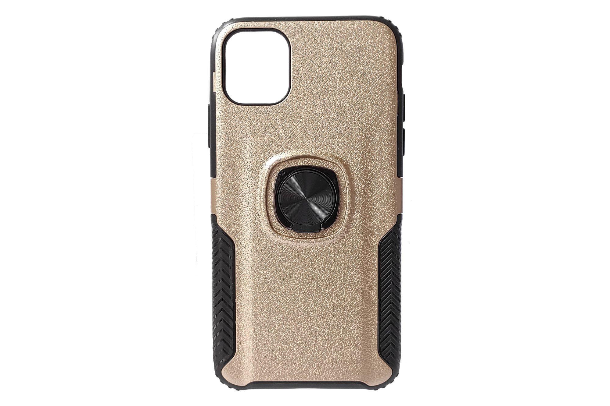 Hjin Metallic Lederring TPU Handyhülle Apple iPhone 11 Gold