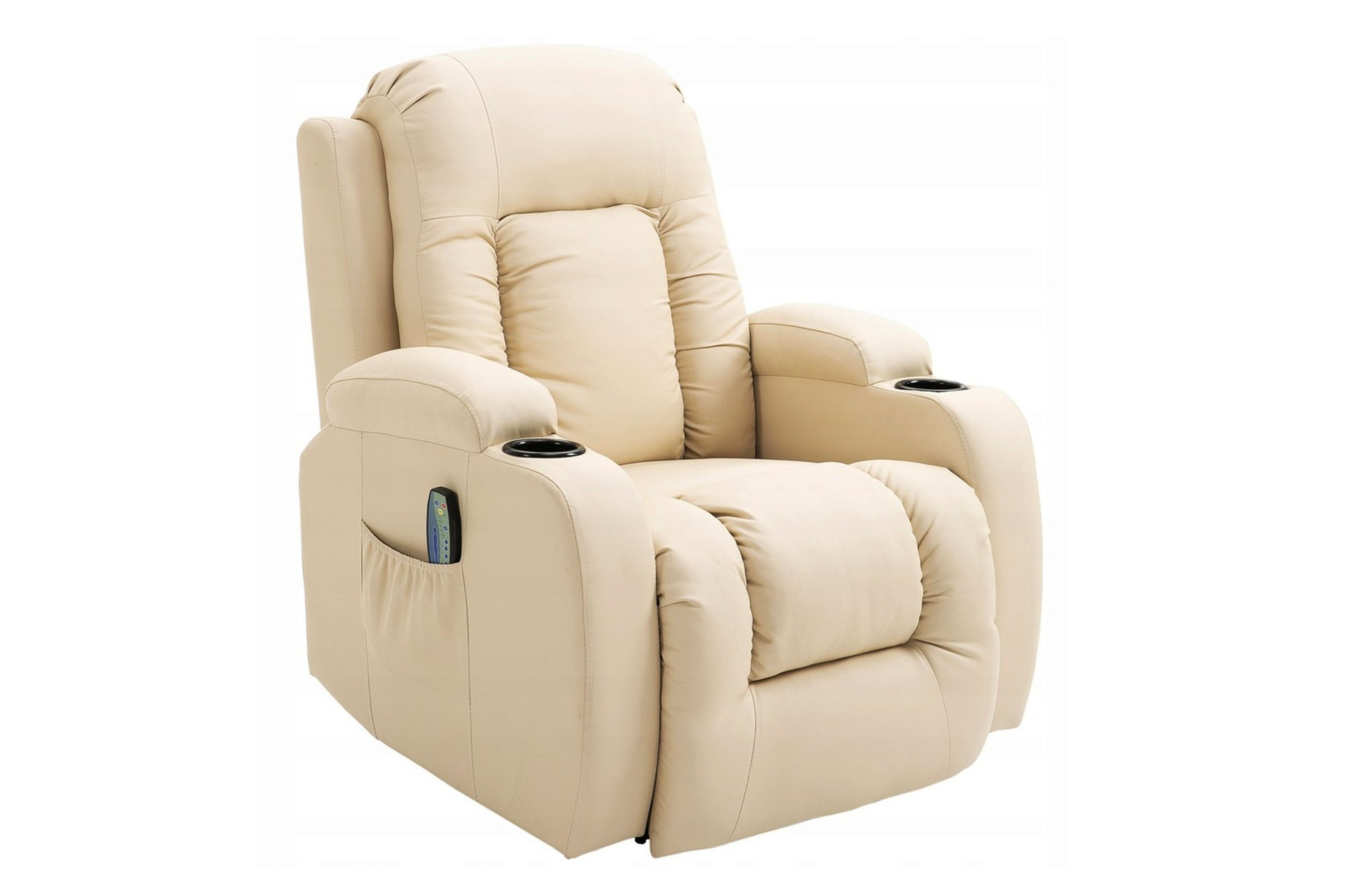 Massagestuhl mit Heizfunktion Homcom 700-050V01CW Creme