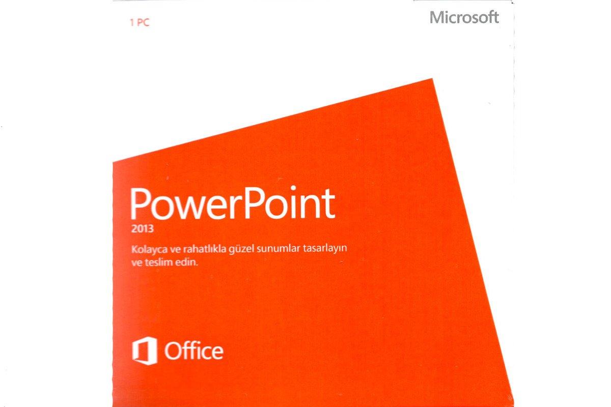 Neu Microsoft Powerpoint 2013 079-05922 Türkisch DVD Eurozone