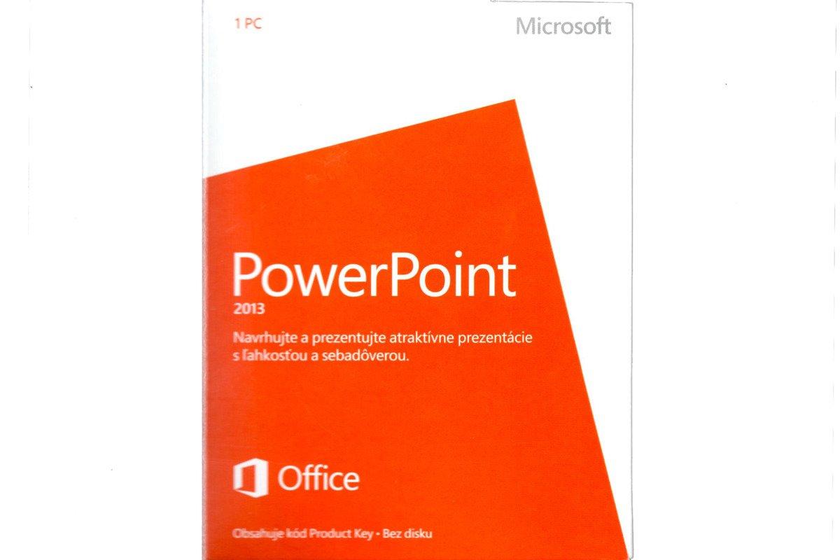 Neu OVP Microsoft Powerpoint 2013 079-05916 Medialess Eurozone NonCommercial