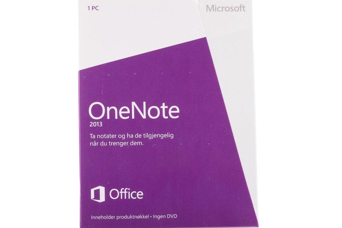 Neu OVP Original Microsoft OneNote 2013 S26-05095 Norwegian Medialess Eurozone