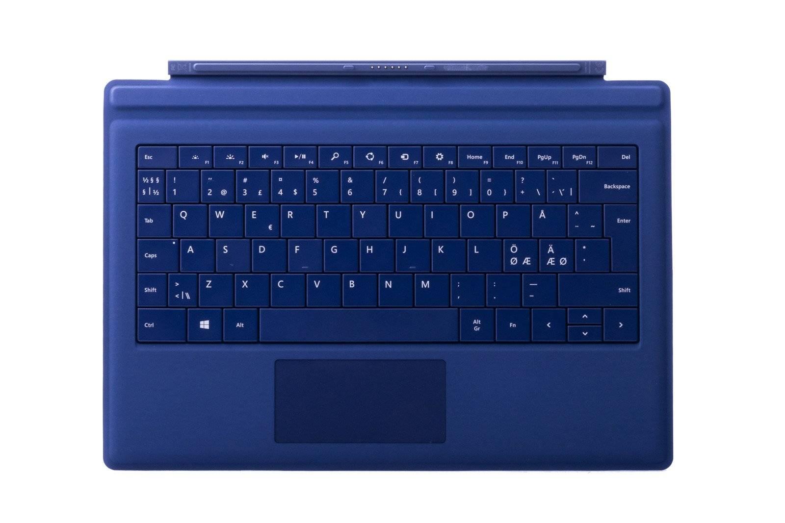 Tastatur Microsoft Surface Type Cover Pro 3 Dunkelblau QWERTY Nordisch Grade B