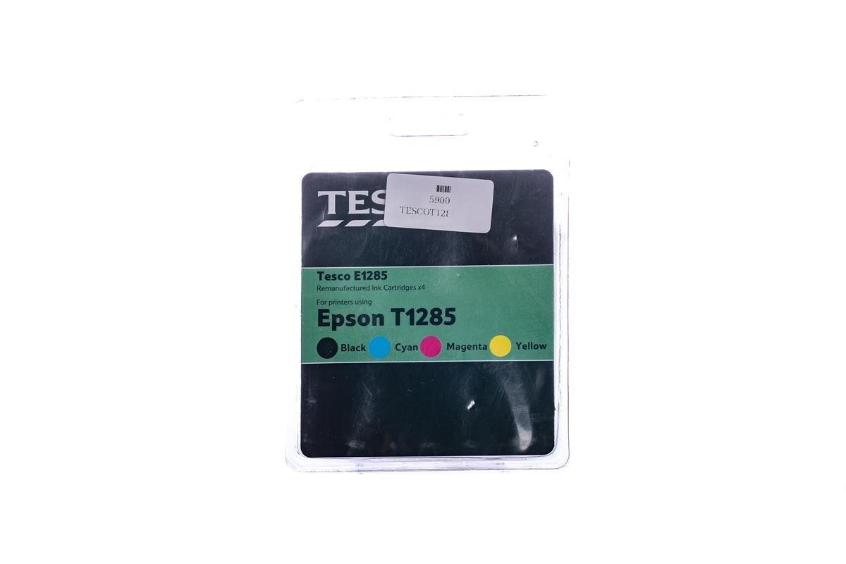 Tesco Tintenpatronen remanufactured Epson T1285 Cyan, Magenta, Gelb, Schwarz