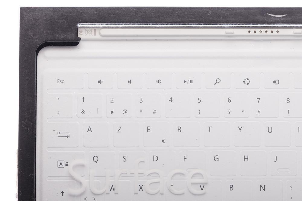 Keyboard Microsoft Surface Touch Cover 1 Weiß (Französisch) AZERTY