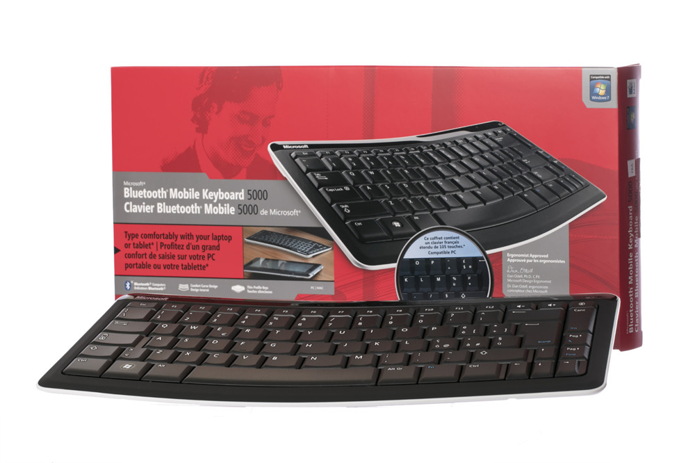Microsoft Bluetooth Mobile 5000 (Französisch) Tastatur T4L-00007 AZERTY