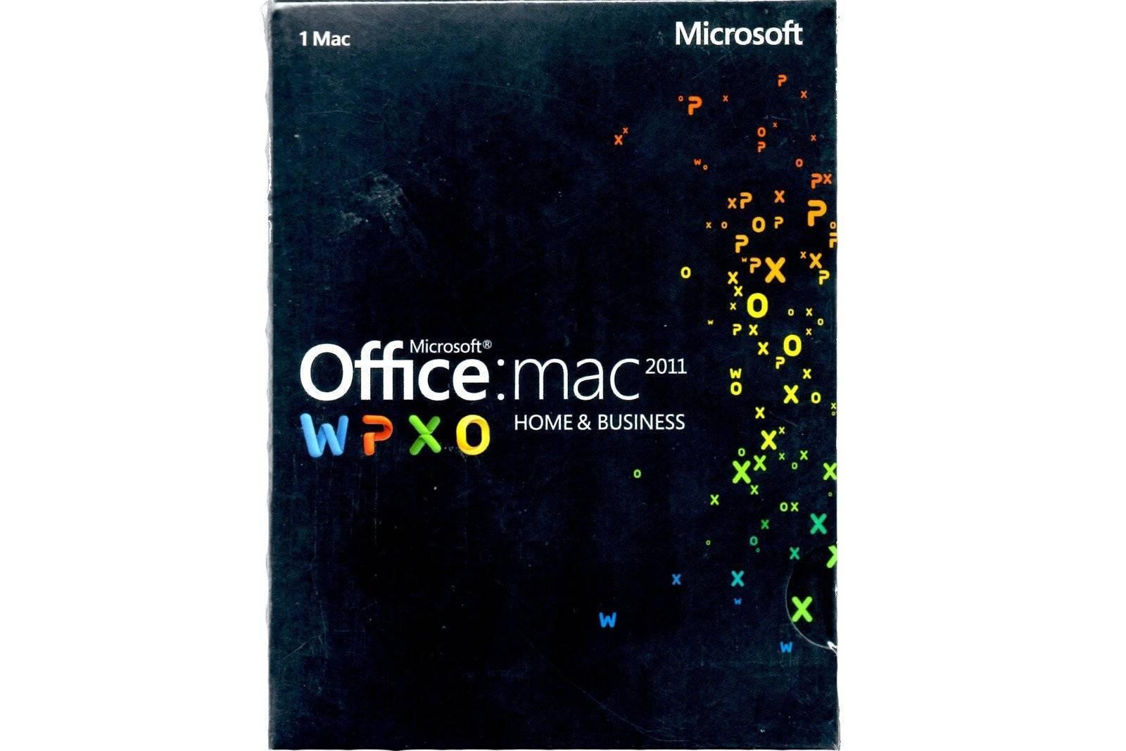 Microsoft Office 2011 Mac Home & Business (W6F-00189) BOX EUROZONE Medialess DE