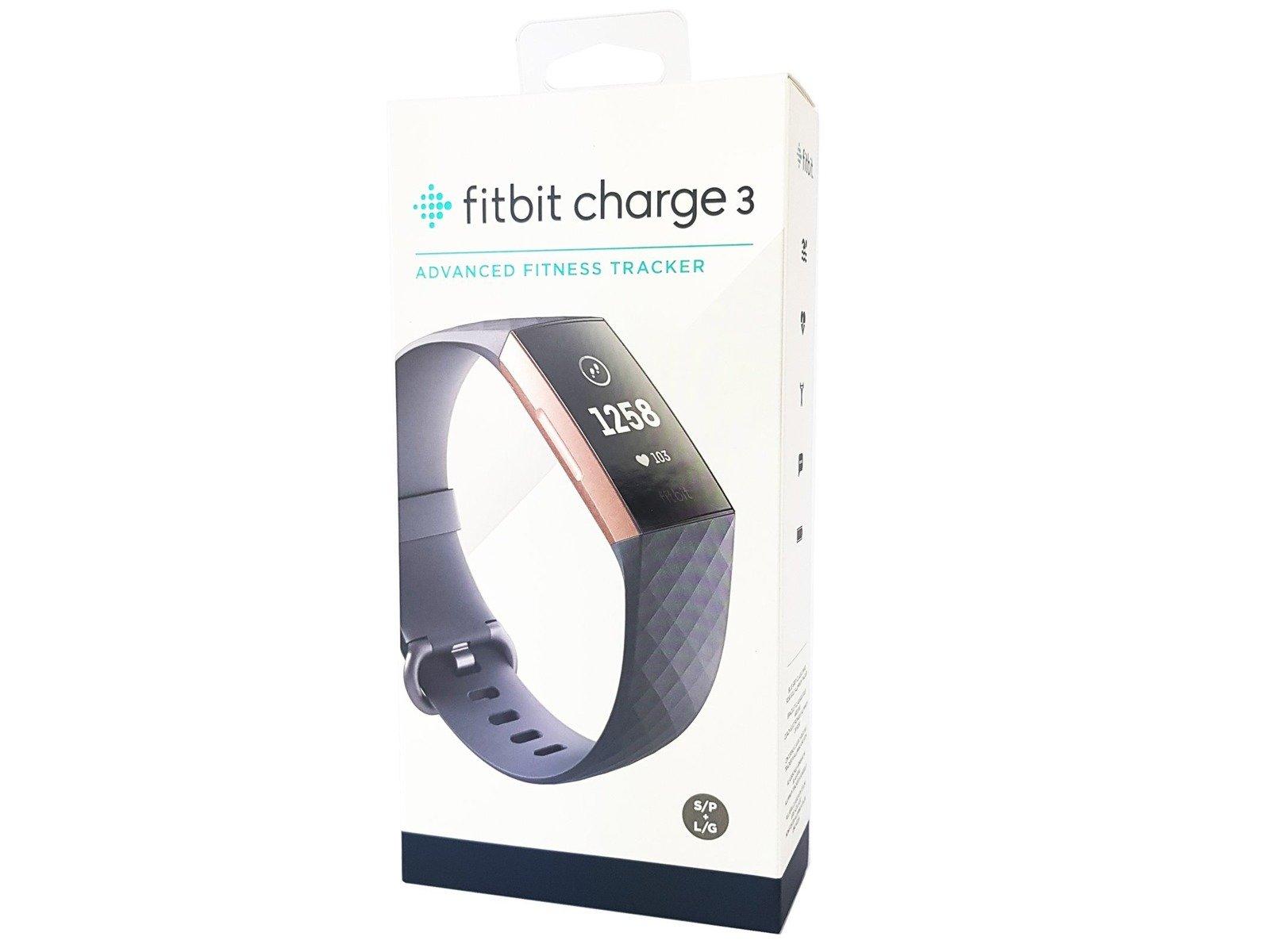 Neu OVP Fitbit Charge 3 Smartband Tracker Rose Gold / Blue Grey