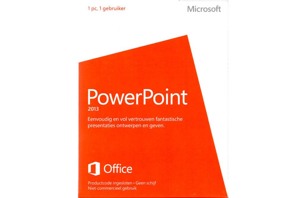 Neu OVP Microsoft Powerpoint 2013 Medialess NonCommercial 079-05935 Eurozone