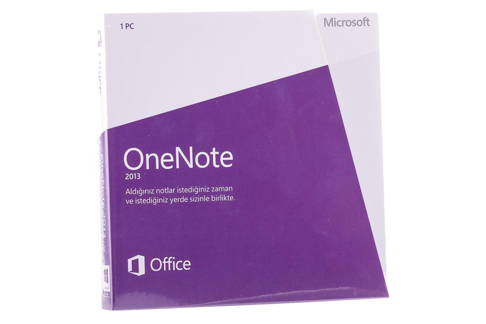 Neu OVP Original-Microsoft OneNote 2013 Türkisch S26-05115 DVD Eurozone