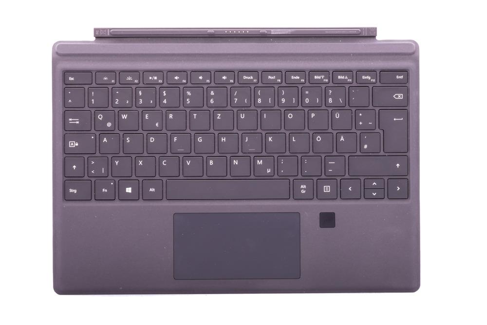 Tastatur Surface Type Cover Pro 4 Finger ID Schwarz Grade B (deutsche)
