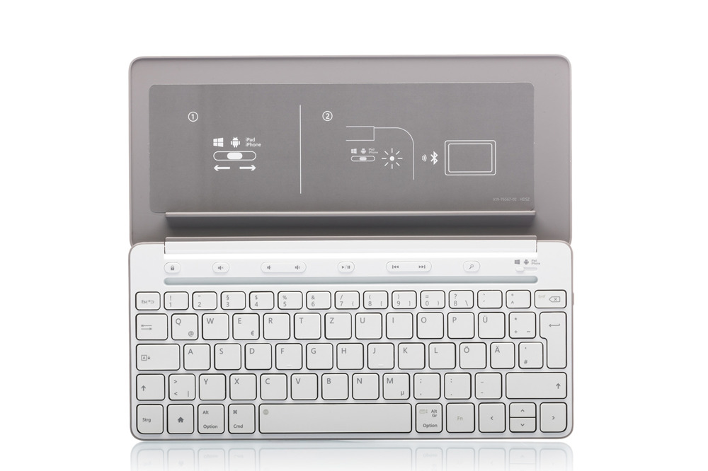 Testatur Microsoft Universal Mobile (Deutsch) P2Z-00036 Grau QWERTZ